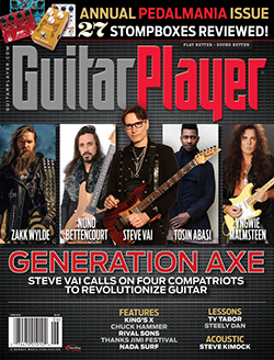 Guitar Player magazine cover with Guthrie Govan