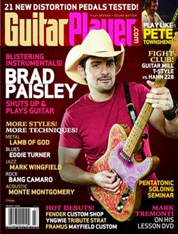 Guitar Player magazine cover with Brad Paisley